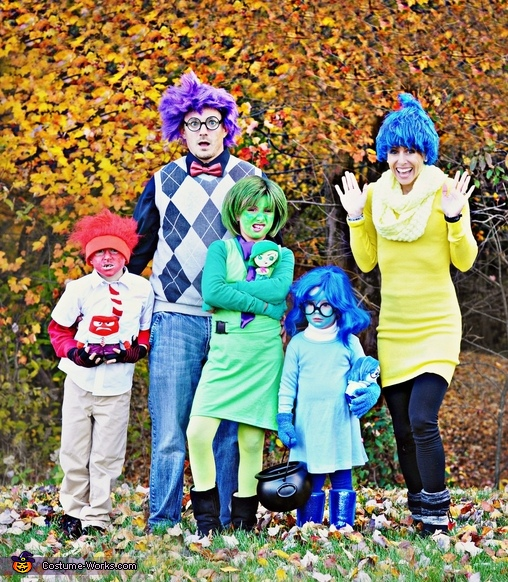 Inside Out Family Costume