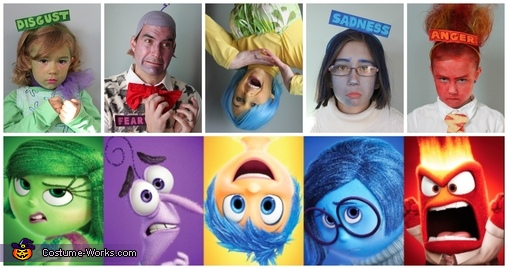 Inside Out Brought to Life Homemade Costume