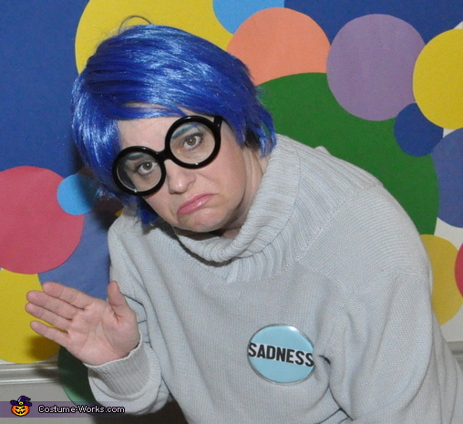 Sadness 1/2 wave, Inside Out Emotional Family Costume