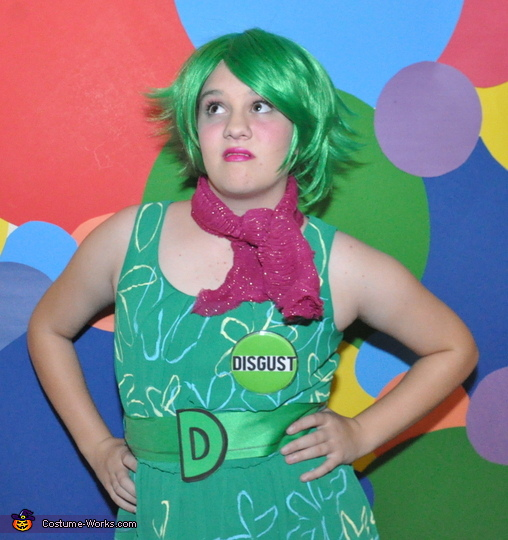 Disgust Eww!, Inside Out Emotional Family Costume