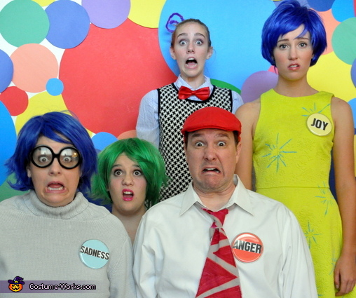 Fearful Family, Inside Out Emotional Family Costume