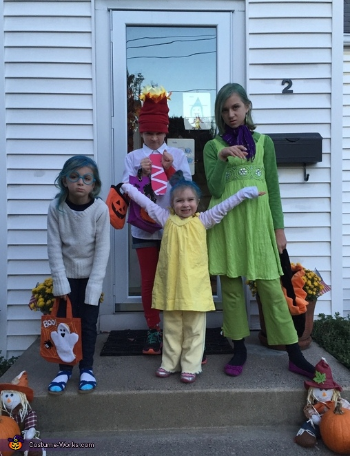 Inside Out Movie Family Costume