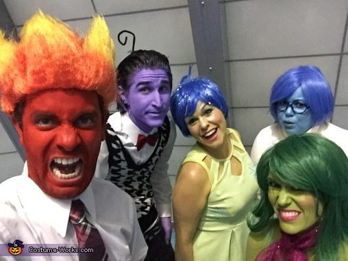 We felt so much joy, sadness, disgust, anger and fear with every selfie we took, Inside Out Family Costume