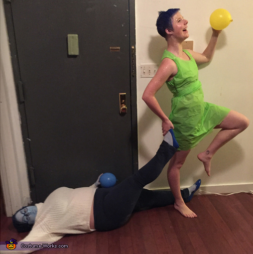 Inside Out Joy and Sadness Homemade Costume
