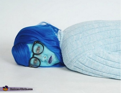 Inside Out Sadness Homemade Costume