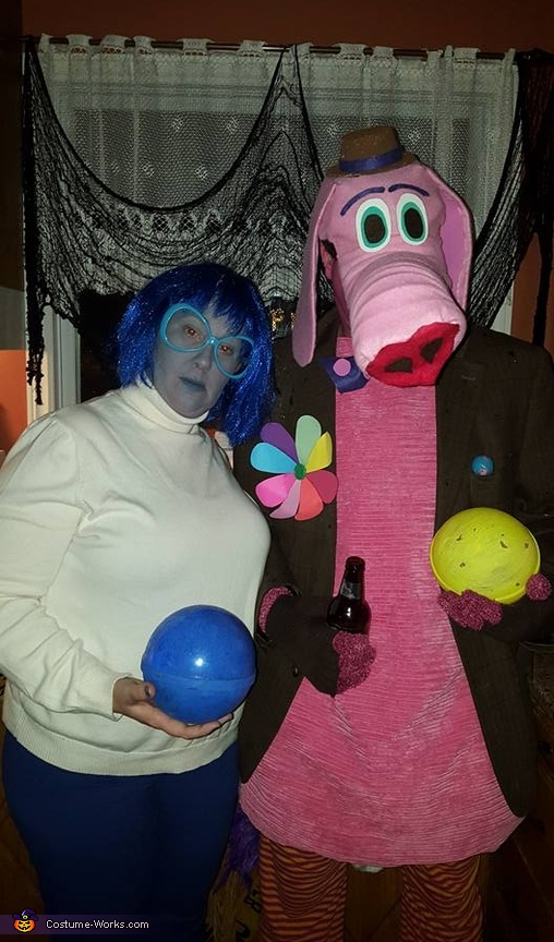Sadness and Bing Bong from Inside Out Costume