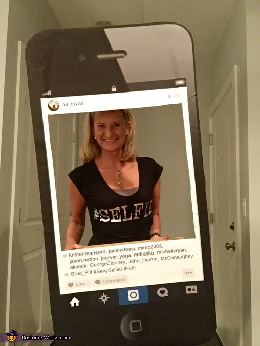 Full Size Shot - Instagram Selfie Costume, Instagram Selfie Costume