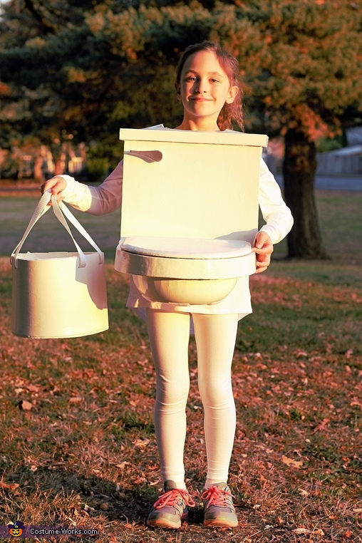 Interactive Toilet With Flushing Sound Homemade Costume