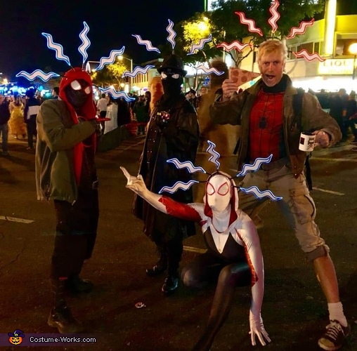 Group Pose 2, Into the Spiderverse Costume