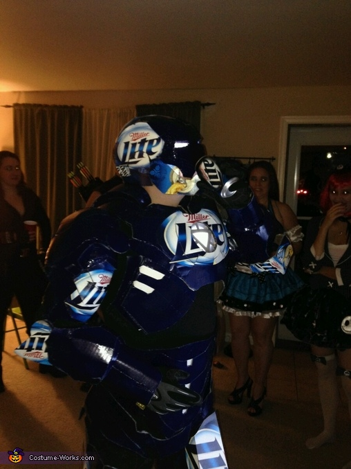 Make Sure you can still eat and Drink in your costume, Iron Can Costume