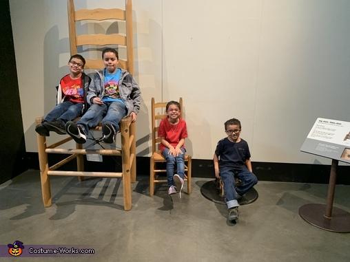 The team. From L to R angel 11, Esteban 12, Lupita 9, Sergio 7, Iron Man Costume