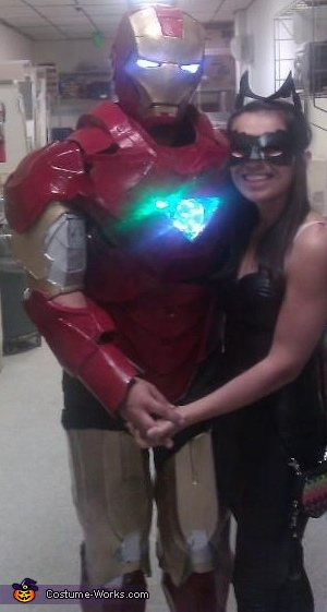 iron man with his cat woman, Iron Man Costume