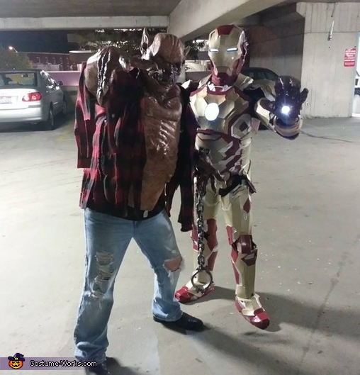 Clowning around with my good buddy that went to a local event with me, Iron Man Costume