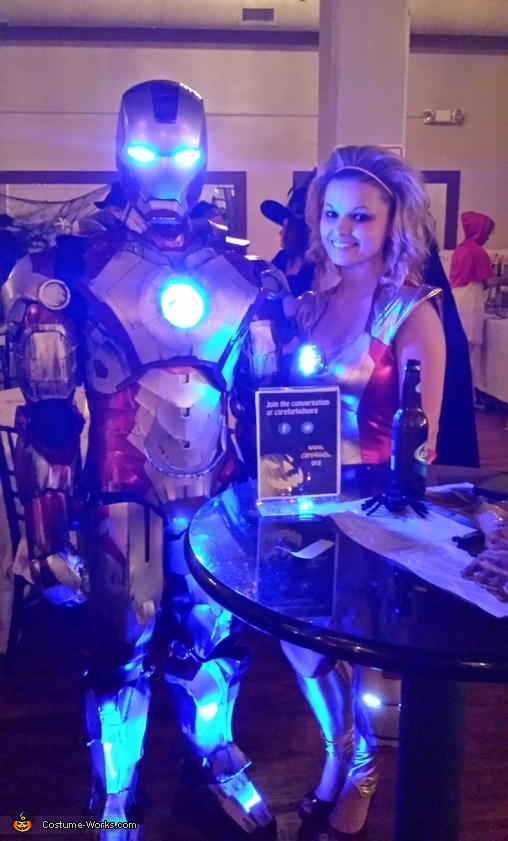 At a costume contest with my fiancé , Iron Man Costume