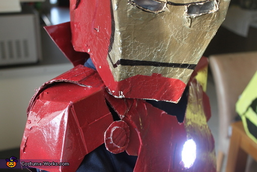 helmet close up, Iron Man Costume
