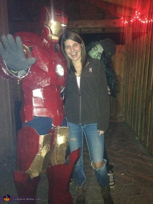 me at the bar for halloween with friends., Iron Man Mark II Costume