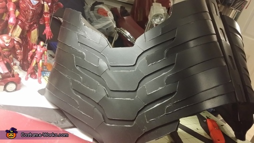 ribs redone with sintra and painted, Iron Man Mk7 Costume