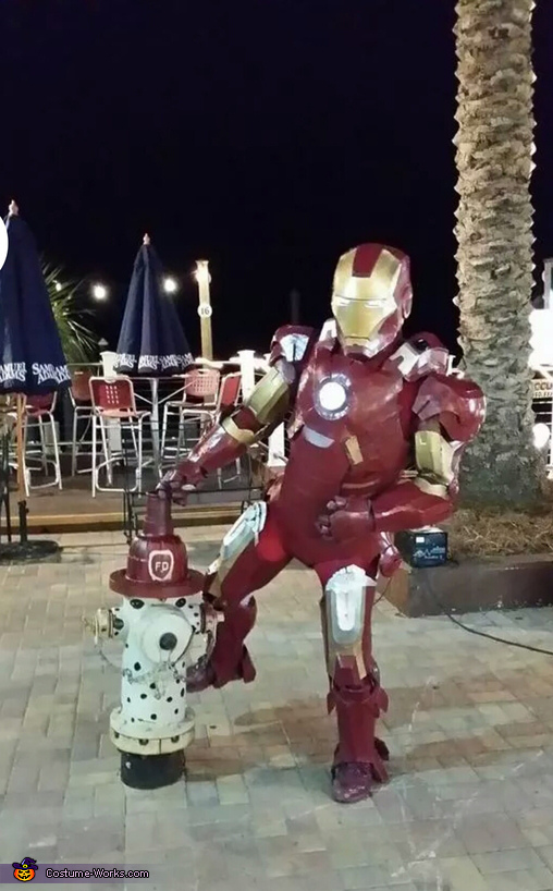in Destin florida, Iron Man Mk7 Costume