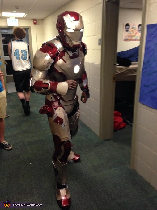 Attempting to run in our hallway!, Iron Man Mk XLII Costume