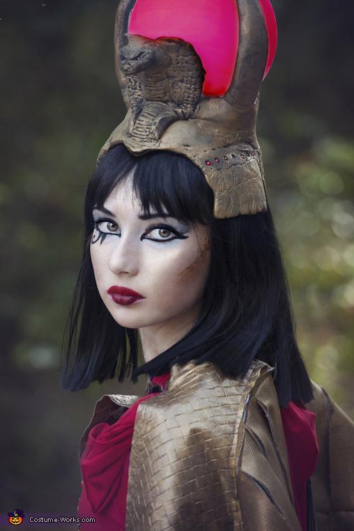 Close Up, Isis Egyptian Goddess Costume