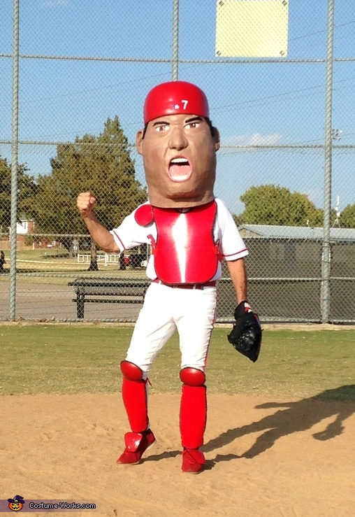"Ivan ""Pudge"" Rodriguez Baseball Hall of Fame Inductee Bobblehead Costume"