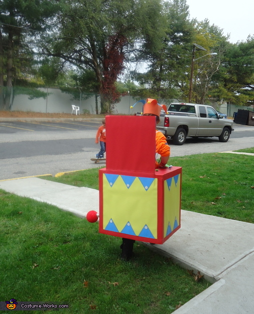 Jack-in-the-Box Homemade Costume