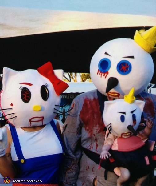 Jack and Hello Kitty with Baby Costume