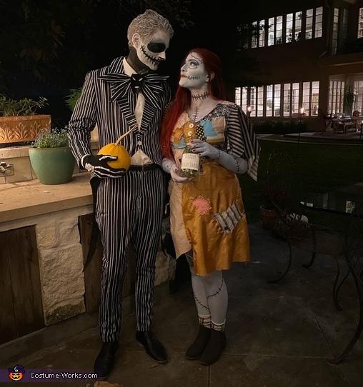 Jack and Sally Homemade Costume