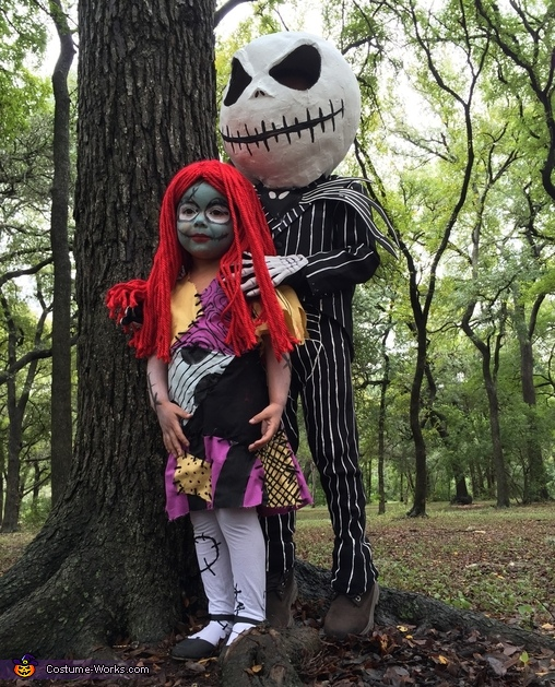 Jack and Sally Skellington Homemade Costume
