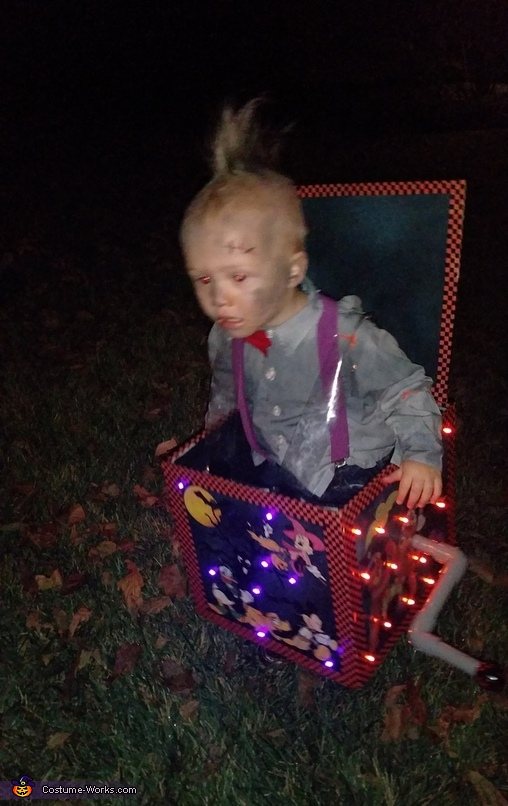 Jack in a Box Homemade Costume