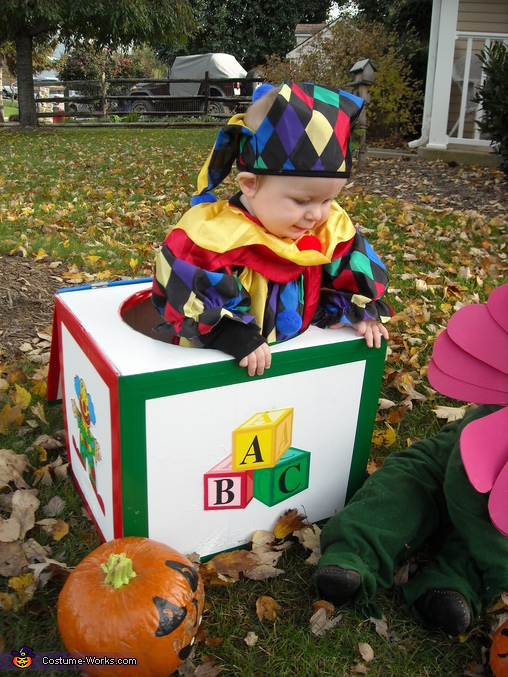 Jack in the Box - Homemade costumes for babies
