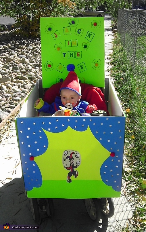 Jack in the Box Baby Stroller Costume
