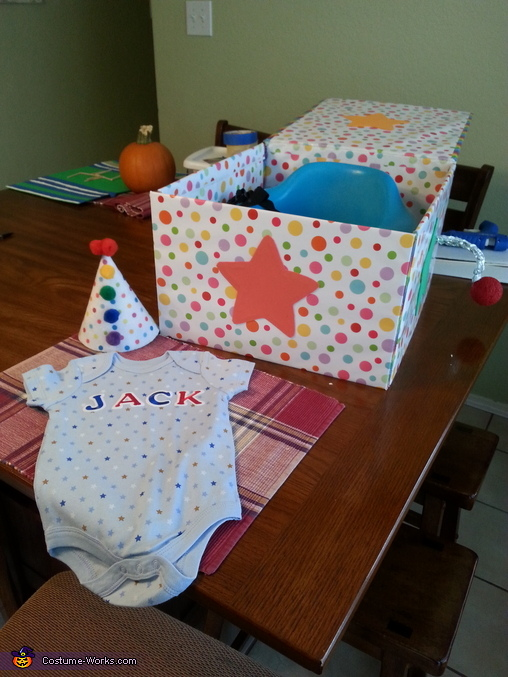 DIY Jack in the Box Baby Costume