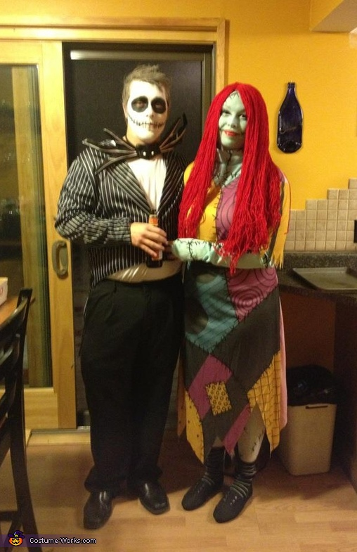 Jack Skellington and Sally Couples Costume