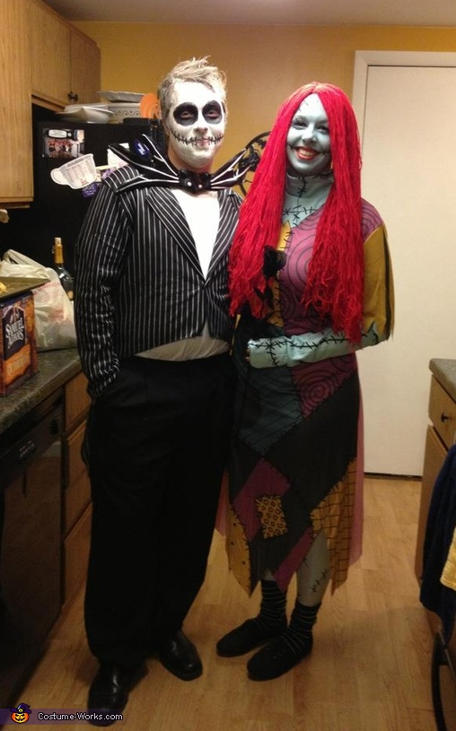 Jack & Sally, Jack Skellington and Sally Couples Costume