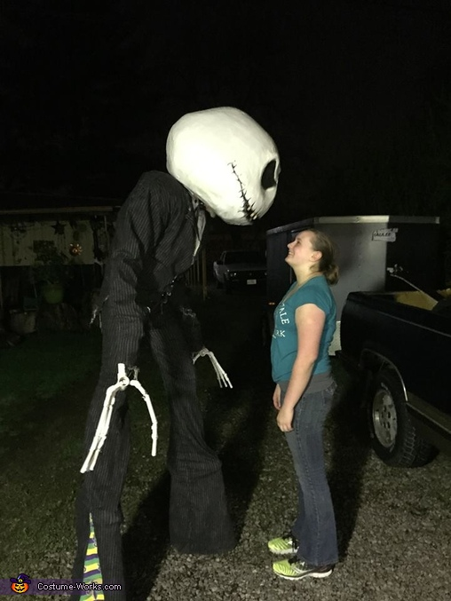keeping an eye on my daughter, Jack Skellington Costume