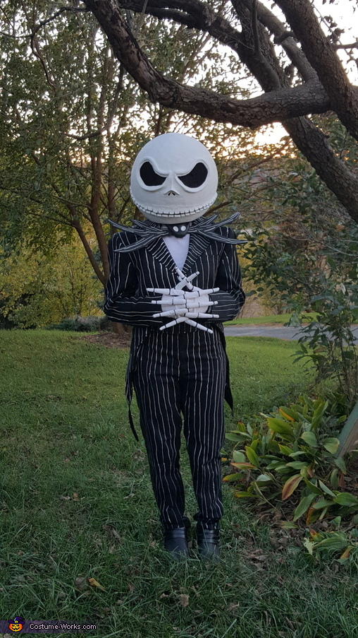 Another pose of the complete costume, DIY Jack Skellington Costume