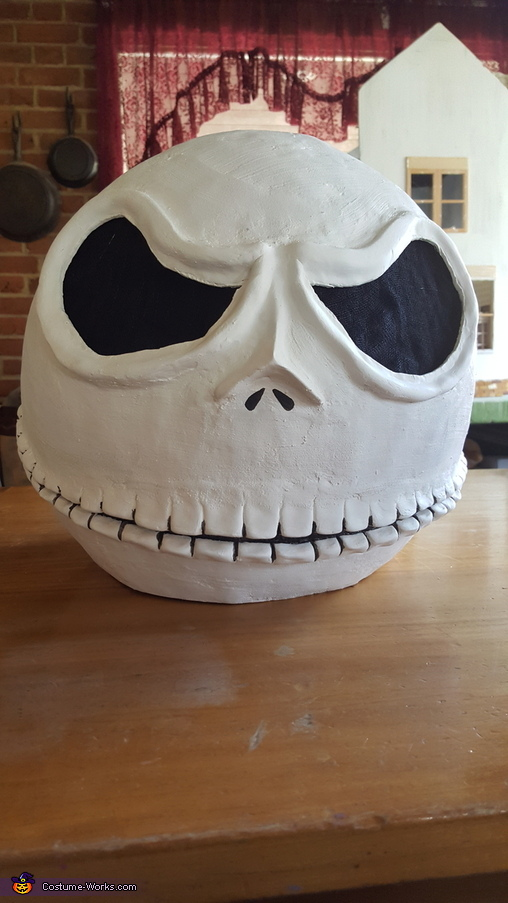 Head almost done, DIY Jack Skellington Costume
