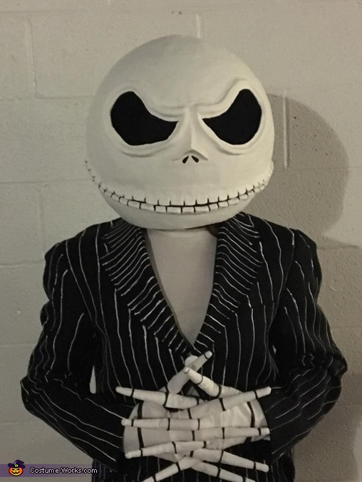 Another view of me, DIY Jack Skellington Costume