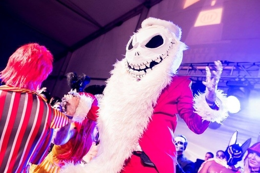 Jack Skellington a la Sandy Claws Costume