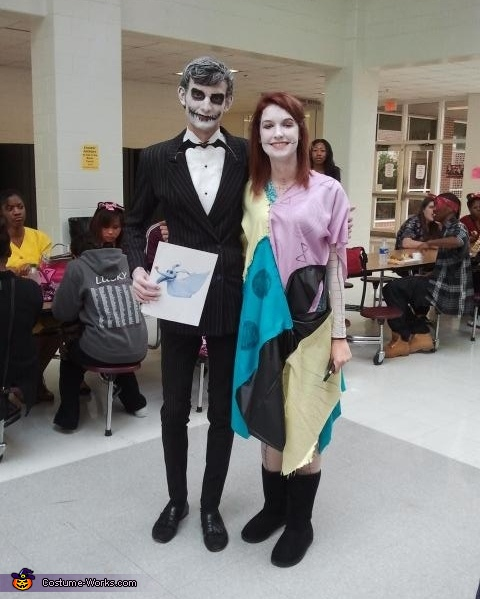 Jack found Sally on Highschool Character Day, Jack the Pumpkin King Costume