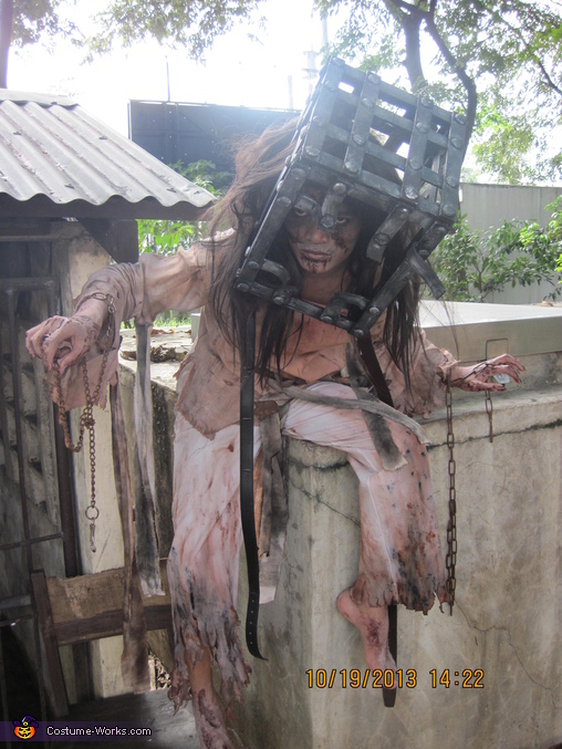 beside old water pump, Jackal of 13 Ghosts Costume