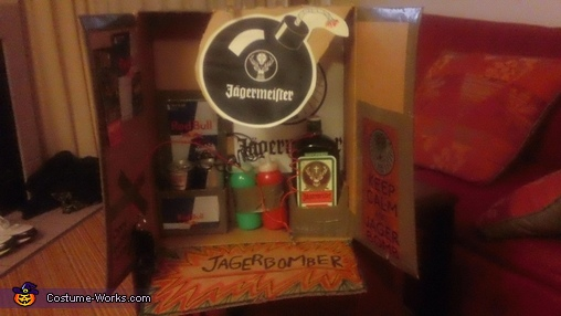 One photo of completed bomb, JAGERbomber Costume