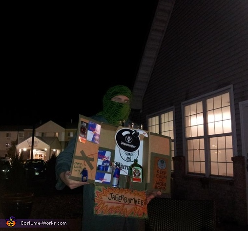 just before going out, JAGERbomber Costume