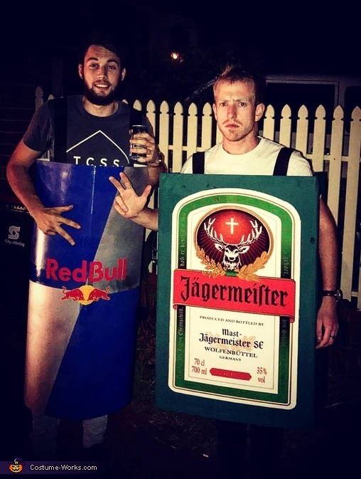 Jagermeister and Redbull Costume