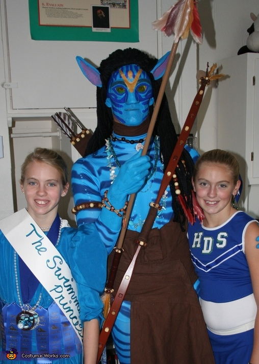 AVATAR Warrior's first public appearance at daughters' Halloween parade at Harford Day School in Bel Air, MD, Jake Sully from Avatar Costume