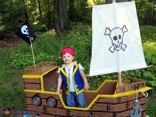 Jake the Pirate and his Ship Homemade Costume