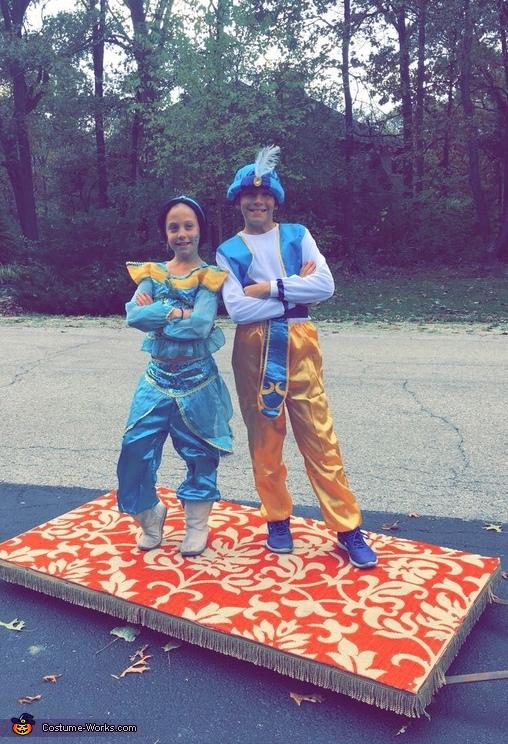 Jasmine and Aladdin on their Magic Carpet Costume