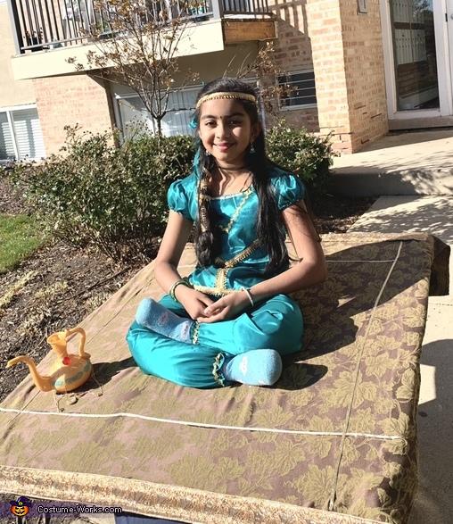 Jasmine in Flying Carpet Costume