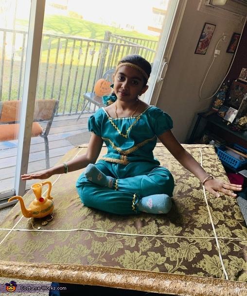 Jasmine in Flying Carpet Homemade Costume